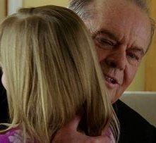 Un abbraccio per Jack Nicholson in una sequenza di Non è mai troppo tardi