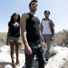 Heroes Volume II - Episodio 6: Sylar (Zachary Quinto) con i gemelli Maya (Dania Ramirez) e Alejandro (Shalim Ortiz)