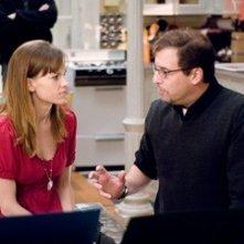 Hilary Swank con Richard LaGravenese sul set del film P.S. I Love You - Non è mai troppo tardi per dirlo