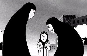 Un'immagine drammatica del film 'Persepolis'
