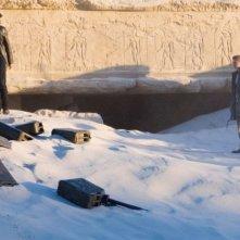 Jamie Bell e Hayden Christensen in una scena del film Jumper - Senza confini