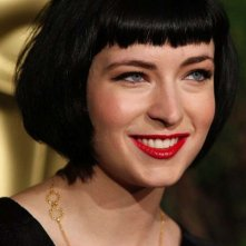 Diablo Cody, nominata all'Oscar per la sceneggiature di Juno, al Nominees Luncheon 2008