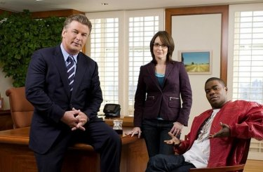 I protagonisti di 30 Rock, Alec Baldwin, Tina Fey e Tracy Morgan
