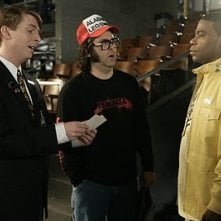 Jack McBrayer, Judah Friedlander e Tracy Morgan nell'episodio 'Cleveland' della prima stagione di 30 Rock