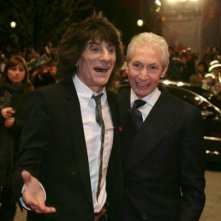 Ron Wood e Charlie Watts arrivano alla Berlinale per la premiere di Shine A Light