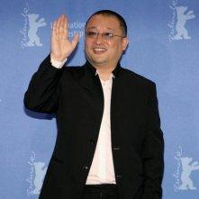 Wang Xiaoshuai al photo call di In Love We Trust a Berlino 2008