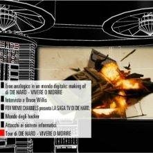 Il menù principale del secondo disco di Die Hard - Vivere o morire - Edizione speciale
