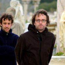 Davide Barletti e Lorenzo Conte sul set di Fine pena mai