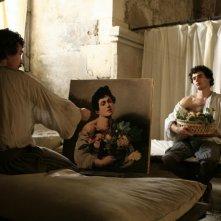 Alessio Boni in una scena del film tv Caravaggio