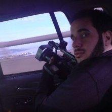 Ari Issler sul set del documentario Tutta la mia vita in prigione