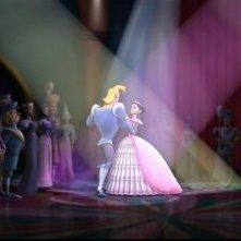 Un romantico ballo nel film Cenerentola e gli 007 nani