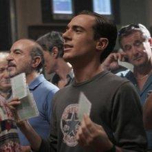 Elio Germano in una sequenza del film Il mattino ha l'oro in bocca