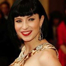 Diablo Cody sorride sul tappeto rosso degli 80° Academy Awards.
