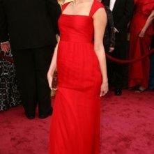 Miley Cyrus sul tappeto rosso degli 80° Academy Awards.