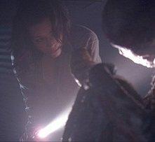Shannyn Sossamon in una sequenza dell'horror Chiamata senza risposta (2008)