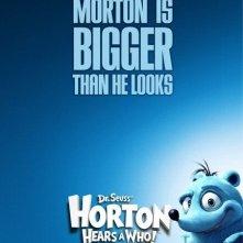 Poster promozionale blu per Horton Hears a Who!