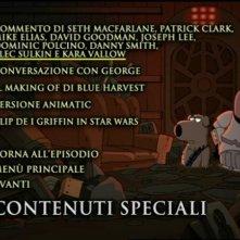 Il menù dei contenuti speciali del DVD 'I Griffin presentano Blue Harvest'