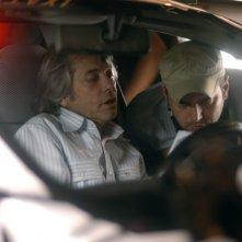 Toni D'Angelo con suo padre Nino sul set del film Una notte