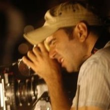 Toni D'Angelo sul set del film Una notte