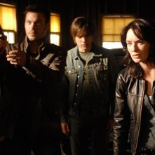 Brian Austin Green, Thomas Dekker e Lena Headey in 'What He Beheld', nono episodio di Sarah Connor Chronicles