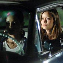 Summer Glau in auto in una scena di 'What He Beheld', nono episodio di Sarah Connor Chronicles