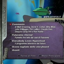 La schermata dei contenuti speciali del DVD 'Futurama - Il colpo grosso di Bender'