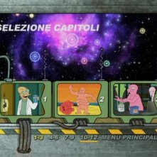 La schermata di selezione capitoli del DVD 'Futurama - Il colpo grosso di Bender'