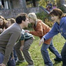 Steve Carell con Juliette Binoche in una scena movimentata del film L'amore secondo Dan