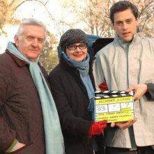 Milena Vukotic e Massimo Poggio sul set del film All'amore assente