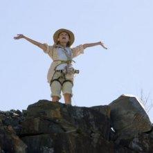 Abigail Breslin in una sequenza dell'avventuroso Alla ricerca dell'isola di Nim.