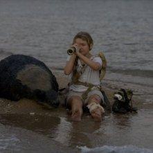 Abigail Breslin in una sequenza del film Alla ricerca dell'isola di Nim.