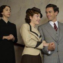 Cristiana Capotondi, Alessio Boni e Mariangela Melato in una scena di 'Rebecca, la prima moglie'