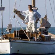Gerard Butler in una sequenza del film Alla ricerca dell'isola di Nim. (2008)