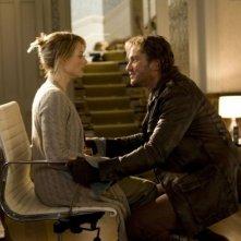 Jodie Foster e Gerard Butler in una sequenza del film Alla ricerca dell'isola di Nim.