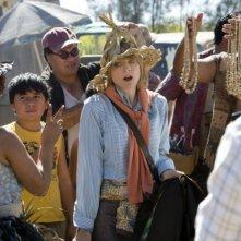 Jodie Foster in una sequenza del film Alla ricerca dell'isola di Nim.