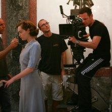 Un'immagine dal set della fiction 'Rebecca, la prima moglie'