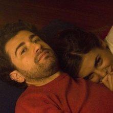 Alessandro Siani con Elisabetta Canalis sul set del film La seconda volta non si scorda mai