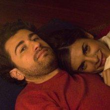 Alessandro Siani ed Elisabetta Canalis sul set del film La seconda volta non si scorda mai