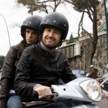 Elisabetta Canalis e Alessandro Siani sul set del film La seconda volta non si scorda mai