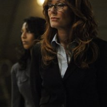Mary McDonnell in una scena dell'episodio 'He Who Believeth in Me' della quarta stagione di Battlestar Galactica
