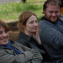 Alessandro Averone, Alba Rohrwacher e Stefano Fresi sul set del film Riprendimi