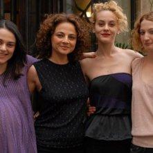 Cristina Odasso, Francesca Cutolo, Marina Rocco e Alba Rohrwacher sul set del film Riprendimi