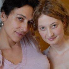 La regista Anna Negri e Alba Rohrwacher sul set del film Riprendimi