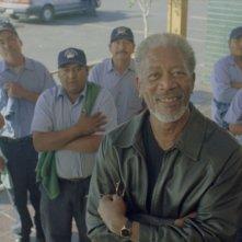 Morgan Freeman sul set del film 10 cose di noi
