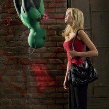 Drake Bell e Sara Paxton in una sequenza del film Superhero Movie (2008)