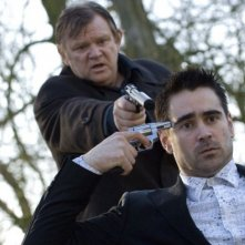 Colin Farrell e Brendan Gleeson in una scena del film In Bruges - la coscienza dell'assassino (2008)