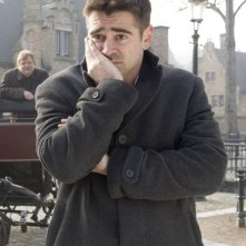 Colin Farrell in una sequenza del film In Bruges