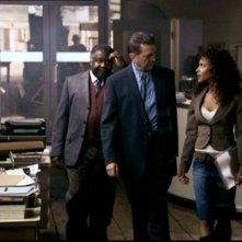 Megalyn Echikunwoke, Gary Hetherington e Alvin Sanders nell'episodio 'Route 666' di Supernatural