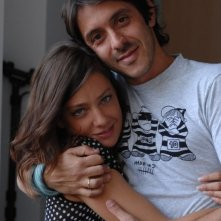Giovanna Mezzogiorno e il regista Stefano Chiantini sul set del film L'amore non basta