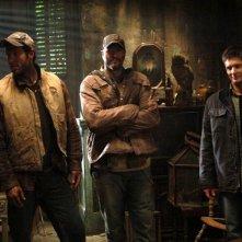Ken Kirzinger, Shawn Reis e Jensen Ackles sul set dell'episodio 'La famiglia Benders' della serie Supernatural